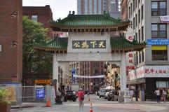 De Gateway van de Chinatown in Boston, Massachusetts Stock Afbeeldingen