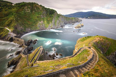 de gaztelugatxe juan san basque land Royaltyfri Fotografi
