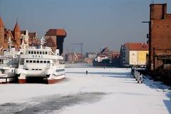 De Gdańsk winter royalty-vrije stock fotografie