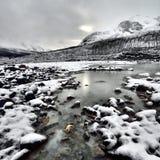 De geërodeerde Gletsjer van Milieuathabasca stock fotografie