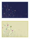 De geïllustreerde scène van gele narcissen ontluikt glimwormen - DA Royalty-vrije Stock Afbeelding