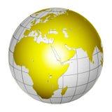 De geïsoleerde 3D Aarde van de Bol van de Planeet Stock Foto's