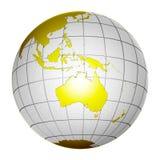 De geïsoleerde 3D Aarde van de Bol van de Planeet Stock Foto