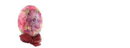 De geïsoleerde banner van het Decoupagepaasei Stock Afbeelding