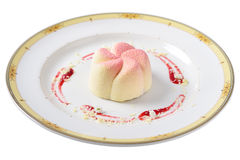 De geïsoleerde cake van de jasmijnmunt, Het concept voor het restaurant Royalty-vrije Stock Fotografie