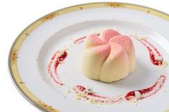 De geïsoleerde cake van de jasmijnmunt, Het concept voor het restaurantmenu Royalty-vrije Stock Fotografie