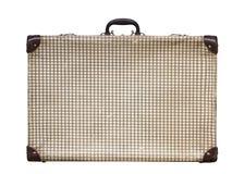 De geïsoleerde Dwars Uitstekende Koffer van Pstel op een Witte Achtergrond Royalty-vrije Stock Fotografie