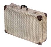 De geïsoleerde Dwars Uitstekende Koffer van Pstel op een Witte Achtergrond Stock Foto