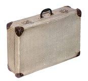 De geïsoleerde Dwars Uitstekende Koffer van Pstel op een Witte Achtergrond Royalty-vrije Stock Afbeelding