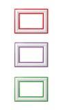 De geïsoleerde Frames van de Foto Royalty-vrije Stock Foto's
