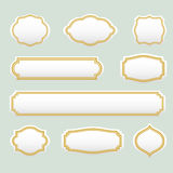 De geïsoleerde gestileerde reeks van het kaders vectorembleem Uitstekende grenzen logotypes inzameling Stock Foto