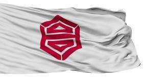 De Geïsoleerde Golvende Vlag van de Kochi Hoofdstad royalty-vrije illustratie