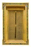 De geïsoleerde gouden Werken van de venster Thaise lak Royalty-vrije Stock Afbeelding