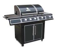 De geïsoleerde grill van de barbecue, Stock Foto's