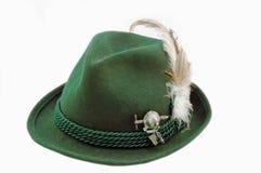 De geïsoleerde hoed van Tirol stock afbeelding