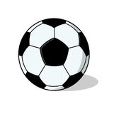 De geïsoleerde Illustratie van de bal van de Voetbal Royalty-vrije Stock Afbeelding