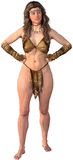 De Geïsoleerde Illustratie van de Tarzanwildernis Meisje stock illustratie
