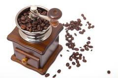 De geïsoleerde molen van de koffieboon Royalty-vrije Stock Fotografie