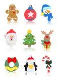 De geïsoleerde Pictogrammen van Kerstmis Royalty-vrije Stock Fotografie