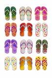 De geïsoleerde reeks van de zomerwipschakelaars van kleurrijk stock illustratie