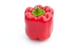 De geïsoleerde rode groene paprika Royalty-vrije Stock Afbeeldingen