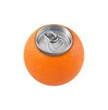 De geïsoleerde sinaasappel kan concept Royalty-vrije Stock Afbeeldingen