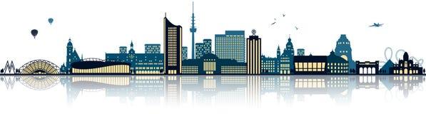 De geïsoleerde vector van Leipzig Duitsland horizon royalty-vrije illustratie