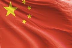 De geïsoleerde Vlag die van China 3d Realistische Teruggegeven Vlag van China golven stock afbeelding