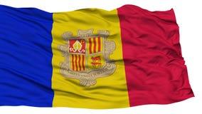 De geïsoleerde Vlag van Andorra stock illustratie