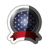 De geïsoleerde vlag van de V.S. binnen knoopontwerp Stock Fotografie