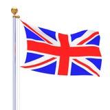 De geïsoleerde vlag van het Verenigd Koninkrijk Royalty-vrije Illustratie