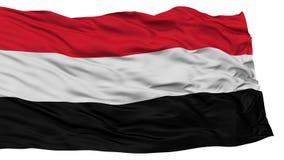 De geïsoleerde Vlag van Yemen Royalty-vrije Stock Foto