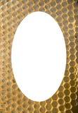 De geïsoleerde. witte ovale achtergrond van het honingraatnetwerk Royalty-vrije Stock Foto