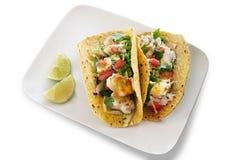De Geïsoleerdea Taco's van zeevruchten - Stock Foto