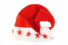 (De geïsoleerded) hoed van de kerstman stock foto's