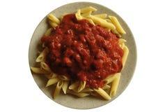 (De geïsoleerded) schotel van de macaroni Stock Afbeelding
