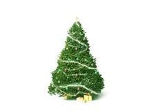 De geïsoleerdee Kerstboom en stelt HK voor teruggeeft Stock Foto's