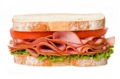 De geïsoleerdee Sandwich van de Ham Royalty-vrije Stock Foto's