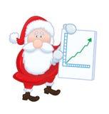 De geïsoleerdef Kerstman met positieve grafiek Royalty-vrije Stock Afbeeldingen
