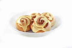 De geïsoleerdeg Broodjes van de Kaneel Royalty-vrije Stock Afbeelding