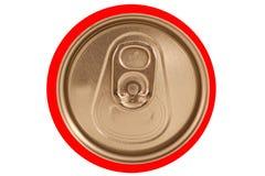 De geïsoleerdeG gesloten rode soda kan deksel stock afbeeldingen