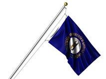 De geïsoleerdei Vlag van Kentucky Stock Foto
