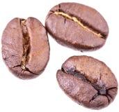 De geïsoleerden Bonen van de koffie - Royalty-vrije Stock Fotografie