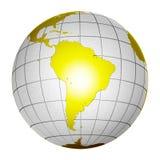 De geïsoleerdeo 3D Aarde van de Bol van de Planeet Royalty-vrije Stock Afbeeldingen
