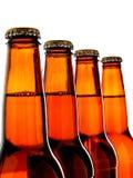 De geïsoleerdep Bruine Achtergrond van de Fles van het Bier Stock Fotografie