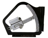 De geïsoleerder hellingmeter van de artillerist Stock Foto's