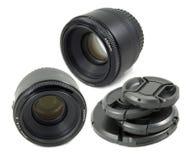 De geïsoleerder Zwarte lens van de Camera DSLR Royalty-vrije Stock Afbeelding