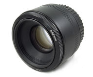 De geïsoleerdes Zwarte lens van de Camera DSLR Royalty-vrije Stock Afbeelding
