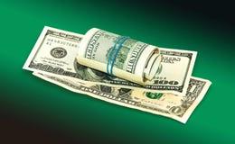 De geïsoleerdet dollars van Amerikanen Royalty-vrije Stock Afbeeldingen