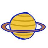 De geïsoleerdet illustratie van Saturnus, Stock Afbeelding